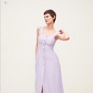 Tweed dress with gemstone buttons- Zara